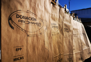 """Escudo facial de Valparaíso Makerspace PUCV registra su marca """"ProMaker"""""""