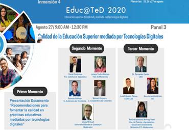 Director de Desarrollo Curricular y Formativo participa en seminario virtual internacional sobre educación virtual de calidad